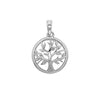 925 Sterling Silver Tree of Life Cubic Zirconia Pendant - jewellerysavers