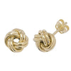 9ct Yellow Gold Double Knot Stud Earrings - jewellerysavers