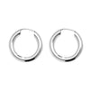 925 Sterling Silver Classic Round Sleeper Earrings - jewellerysavers