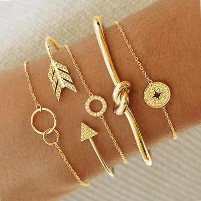 Twisted Knot Bangle Set