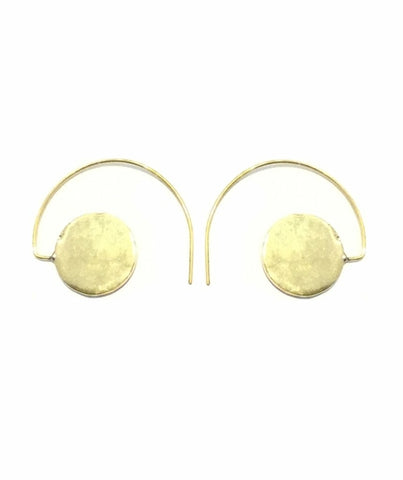 Half circle earrings with large spot