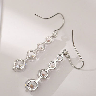4 Row Graduated Crystal Drop Earrings
