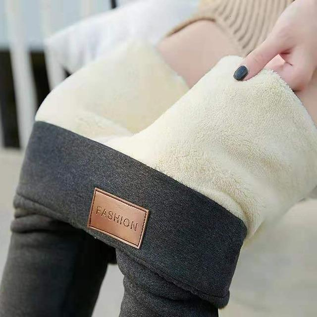 Womens Sherpa-Lined Winter Leggings