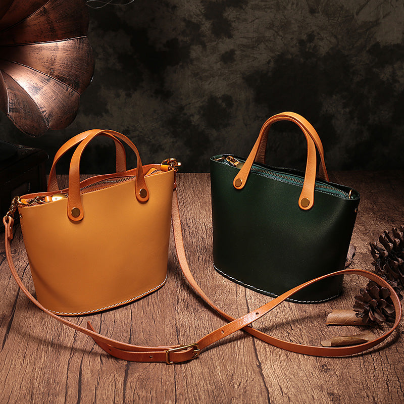 Leather Small Tote Bag WOmen