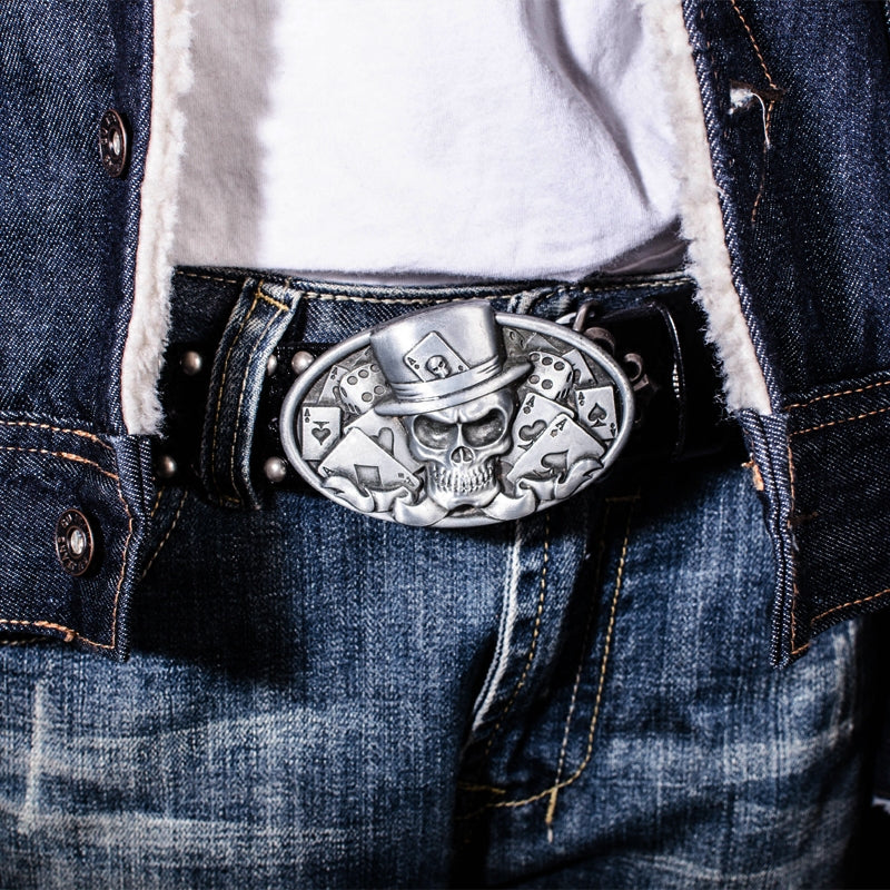 Skull Biker Leather Belts