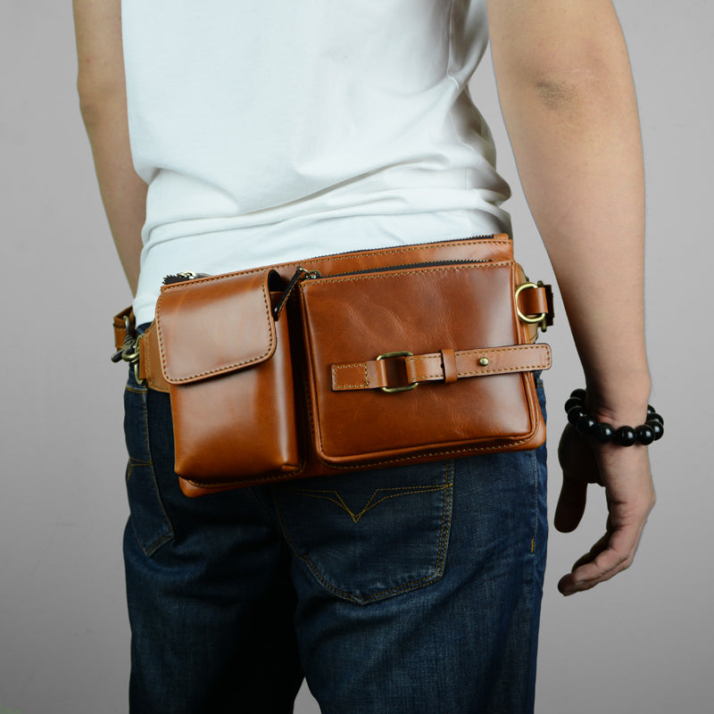 cool leather mens fanny pack