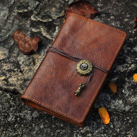 Vintage Handmade Leather Journal Notepad Brown Notebook For Men