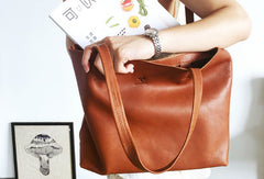 Handmade Genuine Leather Handbag Tote Bag Shopper Bag Shoulder Bag Purse For Women
