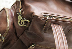 Handmade Leather backpack bag shoulder bag Coffee women leather purse