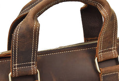 Genuine Leather Messenger Bag Briefcase Bag Cross Body Cool For Men