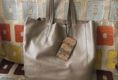 Handmade Vintage Leather Oversize Tote Bag Shoulder Bag Handbag For Women