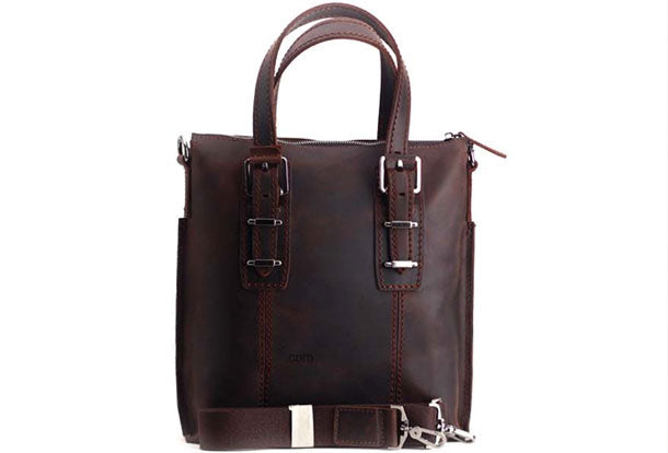 Genuine Leather Mens Cool Messenger Bag iPad Bag Chest Bag Bike Bag Cycling Briefcase Bag For Men