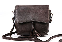 Genuine Leather Handbag Tassel Crossbody Bag Shoulder Bag Purse For Women