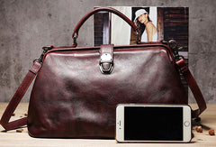 Handmade Leather doctor bag purse for women leather shoulder bag crossbody bag