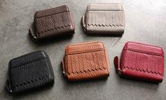 Cute Small LEATHER Womens Wallet Bifold Small Wallets FOR Women
