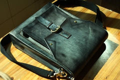 Cool Handmade Leather Mens Backpack Travel Backpack Messenger Bag for men
