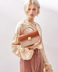 Cute Leather Brown Womens Handbag Crossbody Bag Purse Shoulder Bag for Women