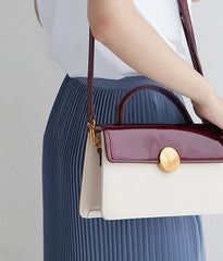 Cute Leather Womens Stylish White Handbag Crossbody Purse Barrel Shoulder Bag for Women