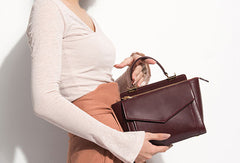 Genuine Leather handbag shoulder bag for women leather shopper bag