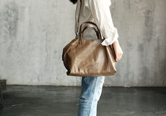 Vintage WOMENs LEATHER Work Handbags Fashion Shoulder Bag Purse FOR WOMEN
