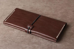 Leather Mens Cool Long Leather Wallet Phone Clutch Wallet for Men