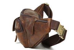 Leather Belt Bag Mens Fanny Back Waist Bag Fanny Bag For Men