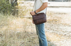 Cool Leather Small Mens Messenger Bags Small Shoulder Bag for Men