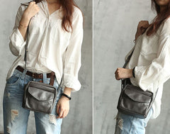 Vintage WOMENs LEATHER Small Shoulder Bag Crossbody Purse FOR WOMEN