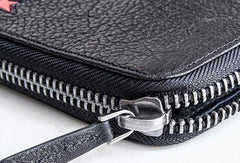 Genuine leather long wallet leather men phone clutch vintage wallet for men