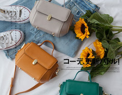 Small Leather Stylish Womens Mini Handbag Doctor Shoulder Bag for Women