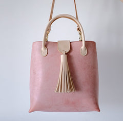 Handmade Leather Womens Handbag Shoulder Bag Crossbody Purse Tassels for Women
