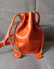 Genuine Leather Bucket Bag Shoulder Bag Crossbody Bag Handbag Purse For Women