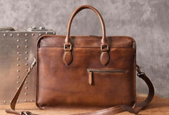 Handmade Cool leather mens Briefcases vintage laptop Briefcases Business Briefcase