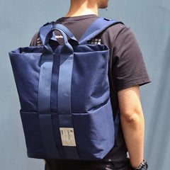 Cool Polyester Fibre Men's Fashion Large Blue Backpack Travel Handbag For Men