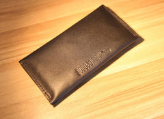 Black LEATHER Womens Bifold Long Wallet Leather Long Wallet FOR Women