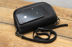 Black LEATHER WOMEN Messenger Bag SHOULDER BAG Crossbody Purses FOR WOMEN