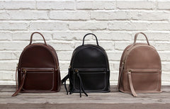 Mini LEATHER WOMEN Small Backpacks Purses Cute Vintage School Backpacks FOR WOMEN