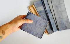 Vintage LEATHER Womens Small Bifold Wallet Leather Small Wallets FOR Women