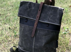 Vintage Cool Mens Waxed Canvas Backpack Canvas Backpack for Men
