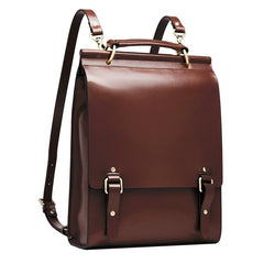 Womens Leather Cambridge Satchel Backapck Bag - Annie Jewel