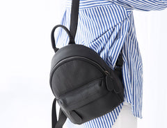 Leather Stylish Womens Small Backpack Mini Work Backpack for Women