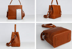 Handmade Vintage Leather Tote Bag Handbag Purse Crossbody Bag Shoulder Bag Purse For Women