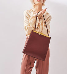 Stylish Leather Brown Womens Shoulder Bag Crossbody Bag Purse for Women