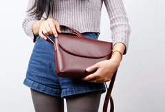 Leather Cute Womens Crossbody Bag Shoulder Bag Purse for Women