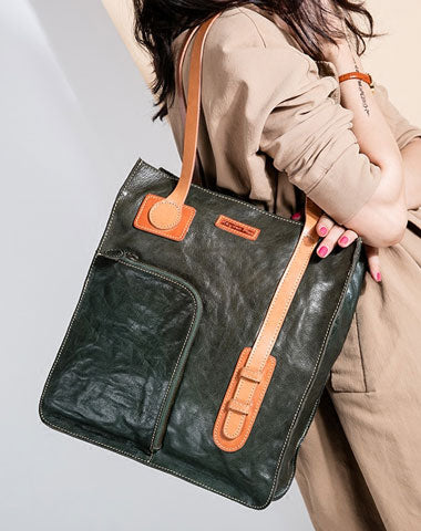 Genuine Leather Handmade Handbag Tote Bag Shoulder Bag Purse For Women Leather Shopper Bag