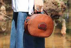 Handmade handbag purse leather crossbody bag purse shoulder bag for women