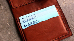 Cute LEATHER Wrinkled Womens Small Wallet Bifold Leather Small Wallets FOR Women