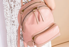 Handmade Genuine Leather Cute Backpack Bag Travel bag Women Leather Purse