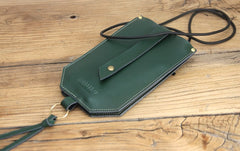 Handmade LEATHER WOMEN Cell Phone Mini SHOULDER BAG Small Crossbody Purse FOR WOMEN
