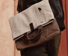 Mens Canvas Cool Side Bag Messenger Bag Canvas Handbag Canvas Tote for Men